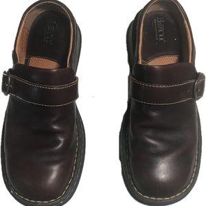 Born Size 8.5 Slip On Loafer Buckle Monk Strap